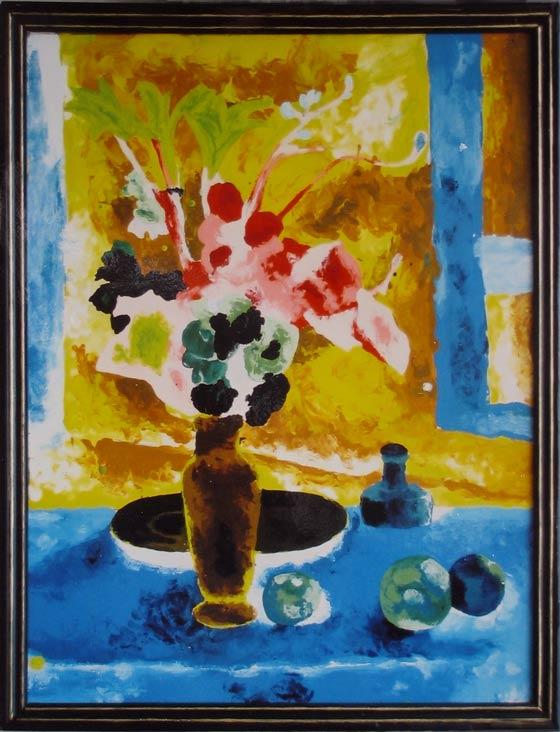 Blue Vase Negative Painting